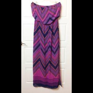 Express Strapless Maxi Dress. Size Large